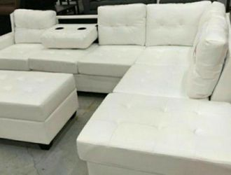 ✔️$39 Down Payment ☆Pablo White Sectional [SPECIAL]| U5300 by Global for Sale in Arlington,  VA