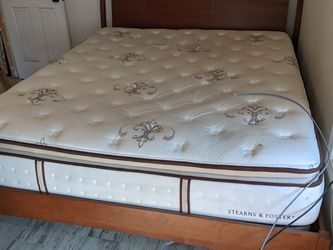 FREE King Size Bed Frame And Mattress Good Shape Less Than 2 Years Old for Sale in Long Beach,  CA