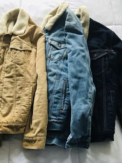 Brand New Levi's Denim Jacket (Corduroy, Light Blue Denim, Dark Blue Denim) for Sale in Atlanta,  GA