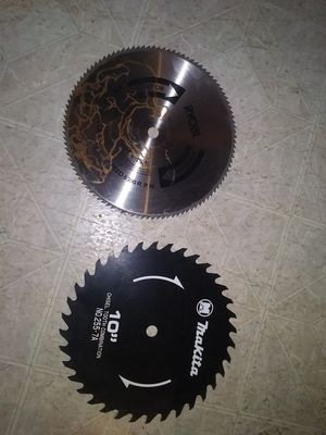 "(2) 10"" saw blades for Sale in St. Charles, IL"