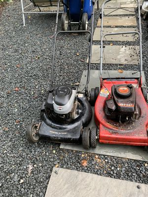 Two old lawnmowers for parts for Sale in West Springfield, VA