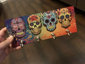"Hanging ""Sugar Skulls"" with 4 hooks for Sale in Fontana, CA"