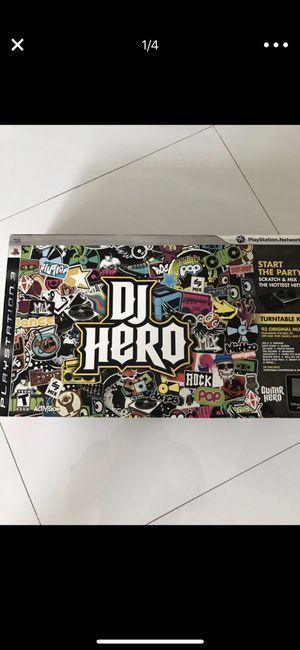 PS3 40GB console, DJ Hero, skylander, gran tourismo wheel, PS3 Camera, 2 controllers, and 15 games for Sale in Miami, FL