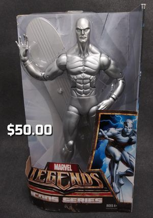 """2006 HASBRO MARVEL LEGENDS ICONS SERIES 12"""" SILVER SURFER ACTION FIGURE NO BOX LOOSE for Sale in Oakland, CA"""