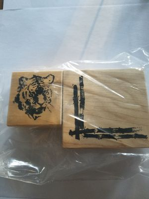 Tiger and bamboo rubber stamp set for Sale in Chicago, IL
