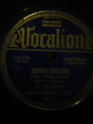 Jeepers creepers All Donahue vinyl record for Sale in Grand Junction, CO