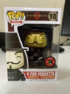 Funko pop V for Vendetta Mettalic Golden 10 for Sale in Lincoln, NE