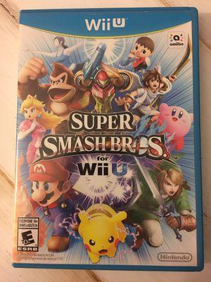 Super Smash Bros for Nintendo Wii U for Sale in Brentwood, CA