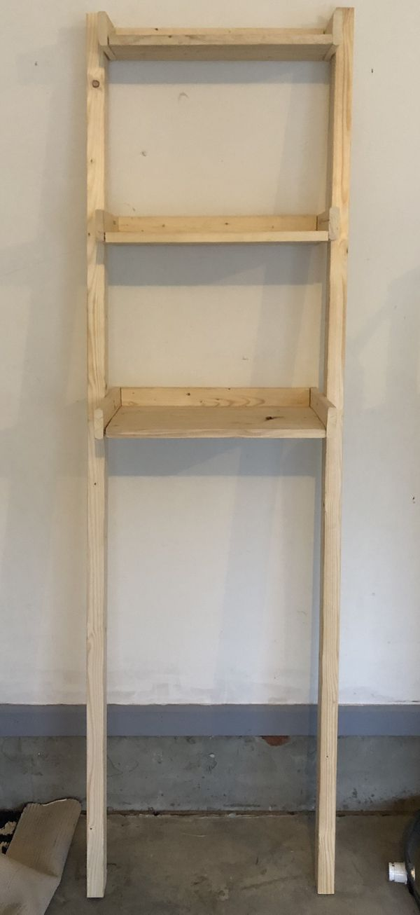 Made to order- Bathroom Leaning Ladder Shelf - Made to Order