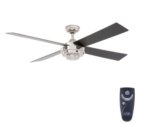 Keeper II 52 in. Indoor Liquid Nickel Ceiling Fan with Remote Control