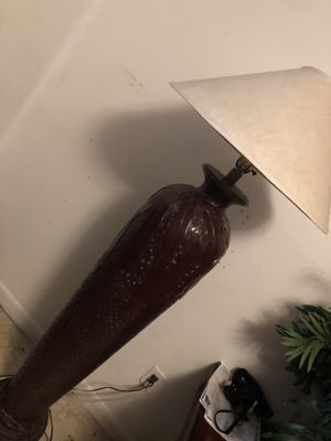 Clay floor lamp painted brown for Sale in Tampa, FL