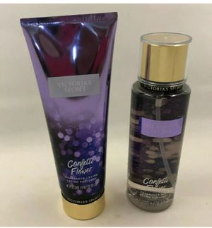 Victoria's Secret Set Confetti flower lotion and mist $19 for Sale in South Attleboro, MA