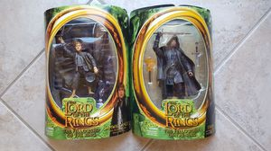 LORD OF THE RINGS ACTION FIGURES (STRIDER & SAMWISE GAMGEE) for Sale in Escondido, CA