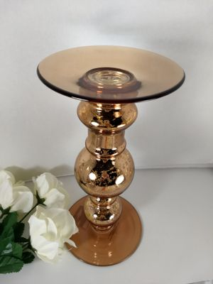 Rose Gold Glass Candlestick NEW $9 for Sale in Bonney Lake, WA