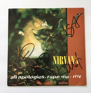 Nirvana Autographed Vinyl Single Possibly Real, Possibly Not for Sale in Little Rock, AR