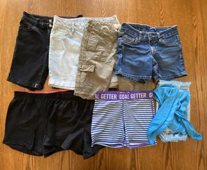 8 piece girls shorts, Size 10 for Sale in Gilroy, CA