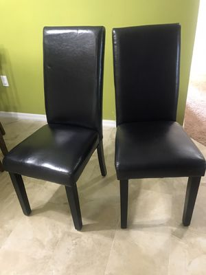 Set of 2 dining chair faux leather for Sale in Tampa, FL