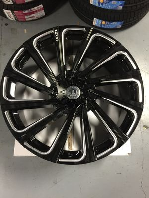 """Brand New 24"""" Inch Lux 22 Gloss Black Milled 24X9.5 Wheels Rims Rines 6X135 6X5.3 6X139.7 6X5.5 for Sale in Austin, TX"""
