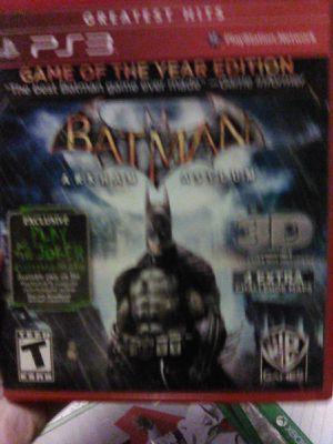 Batman arkham asylum ps3 for Sale in Cortlandt, NY