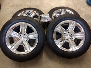 New GM tires and chrome rims off of a 2017 Chevy Silverado 1500 for Sale in Gresham, OR