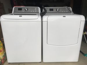 Under Manufacturers warranty (Dec2016) washer and dryer set for Sale in Potomac, MD