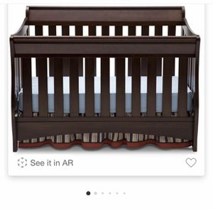 Delta Children Bentley S Series 4-in-1 Convertible Crib- Chocolate-New for Sale in Lawrenceville, GA