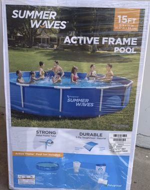 Summer Waves 15ft x 33 Active Frame Pool with Filter & Pump for Sale in Chandler, AZ