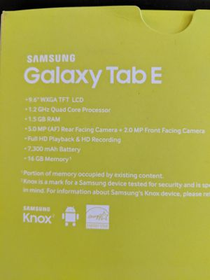 Brand New - Samsung Galaxy Tab E for Sale in West Los Angeles, CA