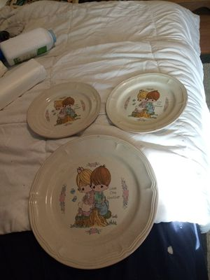 Precious Moments plate set for Sale in Fairview, TN