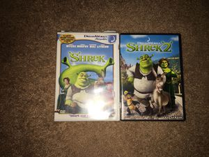 Shrek movie bundle 1 and 2 for Sale in Bel Air, MD
