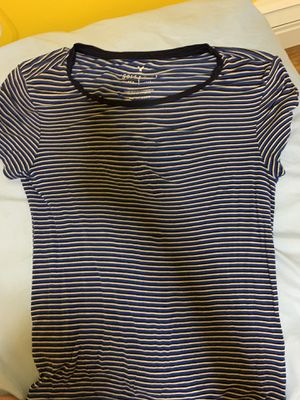 blue and white stripped tee for Sale in North Attleboro, MA