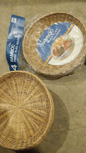 Bamboo paper plate holders for Sale in Conestoga, PA
