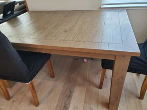 Living Spaces Dining Table and side table with 4 chairs for Sale in Livermore, CA