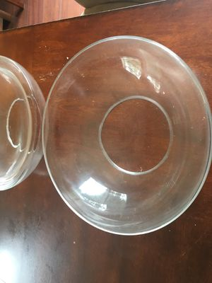 Wedding centerpieces shallow glass bowls for floating flowers candles for Sale in Durham, NC