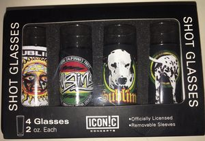 NEW never used Sublime 2oz shot glasses. Awesome collectible shot glasses. for Sale in San Marcos, TX