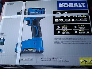 24v kolbalt 1/4 impact and 24v 1/2 compact drill/driver for Sale in Thornton, CO
