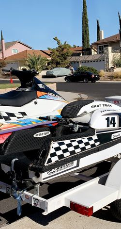 Three Ski Trailer And Two Jet Skis for Sale in Newhall,  CA