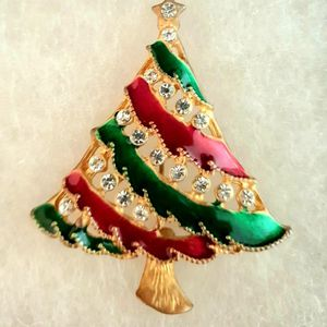 Christmas Tree Brooch Pin_Gold Diamond for Sale in Windermere, FL