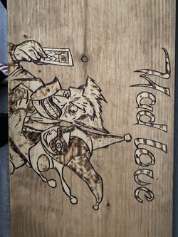 Handmade joker and Harley console table for Sale in Stafford,  TX