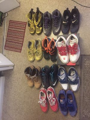 11 pairs of shoes for $40 Size 9.5-12.5(Men) for Sale in Norfolk, VA