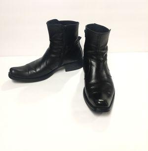 Aldo Black Leather Snip Toe Zip Ankle Boots Men SZ 10 for Sale in McAllen, TX
