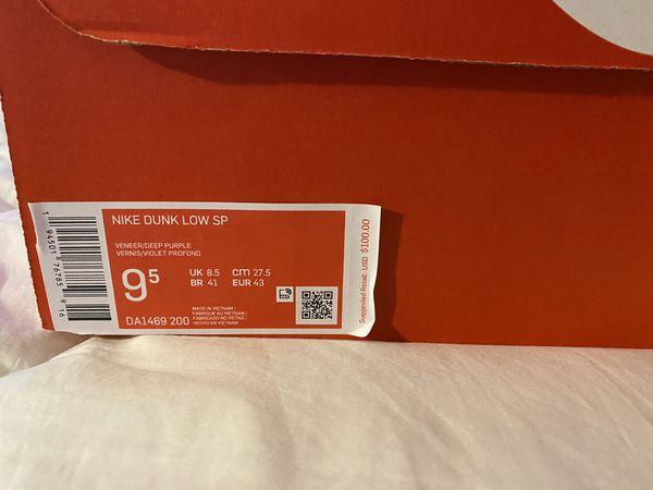 Veneer Dunk SB Size 9.5