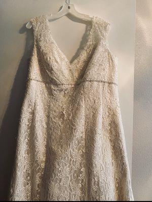 WEDDING DRESS ❤️ size 18W for Sale in San Antonio, TX