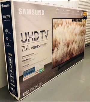 "75"" Samsung UN75NU710D 4K UHD HDR LED Smart TV 2160p (FREE DELIVERY) for Sale in Lakewood, WA"
