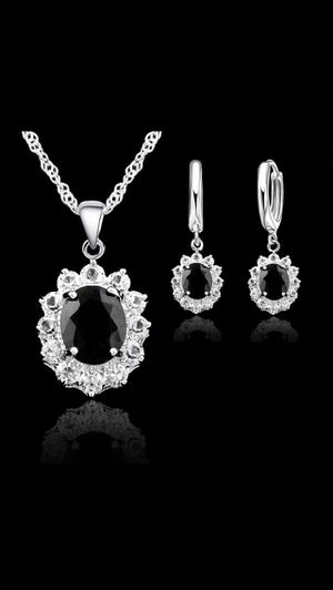 Sterling silver jewelry set, necklace and earrings for Sale in Saint Cloud, FL