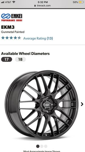 Enkei Gunmetal Painted Wheels with Winter Tires for Sale in Cleveland, OH