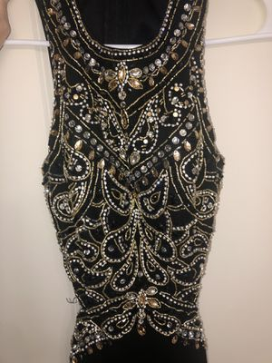 Black and gold with diamonds prom dress; size small for Sale in Lacey, WA