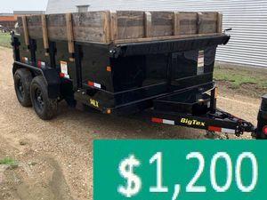 Price$12OO BIG-TEX 14LX 2017 hydraulic dump for Sale in Detroit, MI