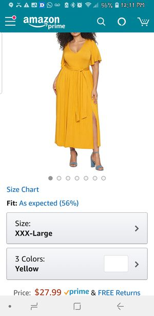Yellow dress for Sale in Washington, DC