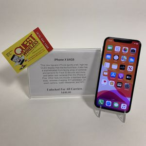 iPhone X 64GB Unlocked for Sale in Kansas City, MO